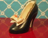 High Heel Shoe Planter - Ceramic - Mid Century Decor