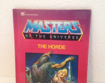 Vintage Book, He Man, Masters of the Universe, Vintage Kids Book, Vintage Cartoon Comic Book