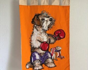 Shaggy Dog Wall Hanging, Dog Boxer