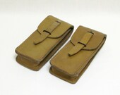 Ammunition bags, Leather Ammo Bags, French Ammunication cases, Ammunition pouches  (052)