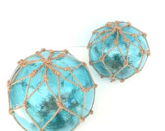 Glass Fishing Float, Glass Float, Gazing Ball, 12 inch, Beach Decor, Cottage Decor,