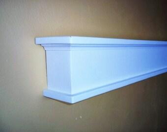 Floating Wood Shelf ,  Rustic Fireplace Mantel Shelf ,  Wood Shelving , Kitchen Storage  Wall Shelf
