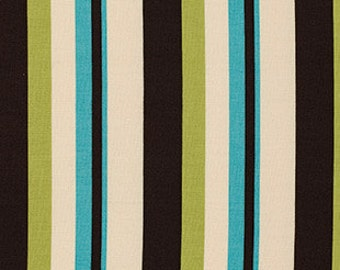SALE Ansonia by Denyse Schmidt for Free Spirit - Wide Stripe - Mossy - 1/2 Yard Cotton Quilt Fabric 516