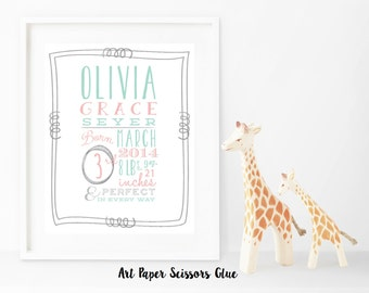 Birth Announcement Print