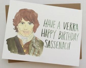Outlander Birthday Card