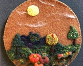 Harvest Time Needle Felted Wall Decoration