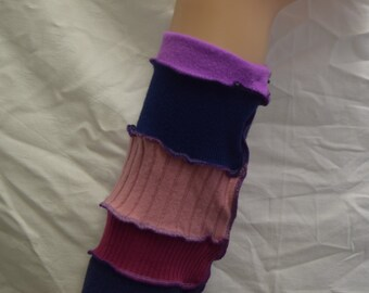 Upcycled Leg-warmers, Up-cycled, OOAK, Festival Gear. UK Seller, Ships Worldwide.