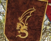 Dragon Banner, Wall hanging, Coat of Arms, Quilted Dragon Banner
