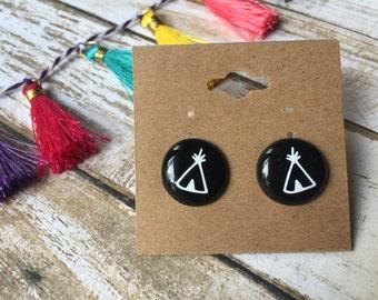 Camping Earrings//Tee Pee Earrings