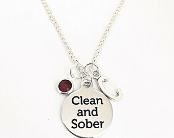 Personalized Clean & Sober Necklace