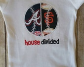 Baseball house divided shirt- Can customize to any team
