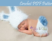 Instant Download PDF crochet pattern Bunny Rabbit Hat and Diaper Cover Newborn Easter Baby Girl Baby Boy