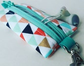 Chapstick, Headphones, or USB Drive Keychain Holder- Colorful diamonds