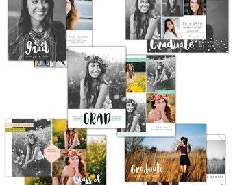 Graduation announcements bundle - Photoshop Templates - E1284