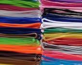 Random mix Luggage Tag plastic worm loops 6 inch 100 loops per bag