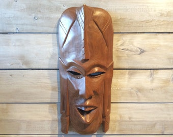 Wall African  mask wooden wall decor