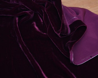 Silk Velvet - Fancy Fabric for beautiful evening dresses - Elegant Silk Velvet Fabric - 1 yard
