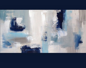 """Art, Large Painting, Original Abstract, Acrylic Paintings on Canvas by Ora Birenbaum Titled: Uptown Chic 24x48x1.5"""""""