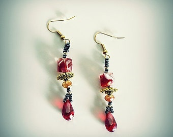 Brilliant Red Drop Earrings