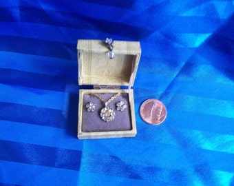 Jewelry in Box 1:12th Dollhouse Scale