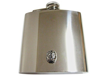 Anatomy Brain 6 oz. Stainless Steel Flask