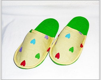 Guests Slipper Gr. 38/39 cotton and felt