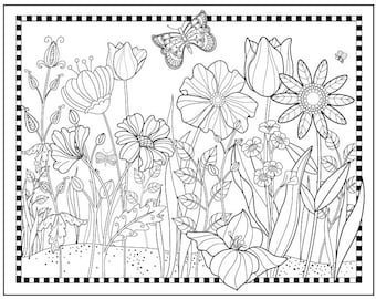 Magical Garden To Color Downloadable Print Fun Design For All