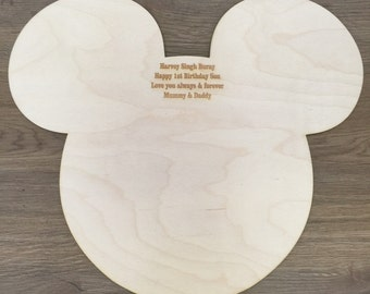 Mickey Mouse Wooden Personalised guestbook