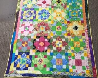 Fun in the Sun Flower quilt