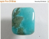 20% off: Amazonite with Diopside crystals designer cabochon, translucent, cushion shape, ring size, small cab  (am8763)