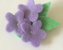 Posey Flower Bouquet Felt Brooch
