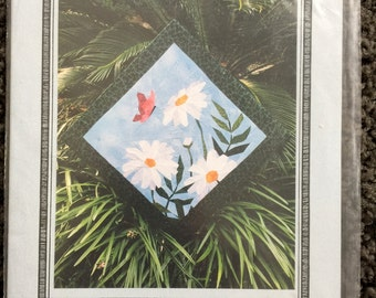 Daisy Picture Piecing Quilt Sewing Pattern UC FF Uncut butterfly