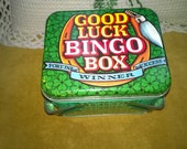 Handled Tin Good Luck Bingo Box