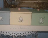 Reserved...So Cute Vintage Baby Storage Boxes on Tray, Baby's Room, Shabby Chic, Organizer