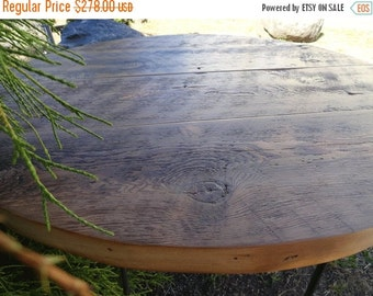Last Chance Sale 15% OFF. Antique Barnwood - Round Dining Table, 24 inches