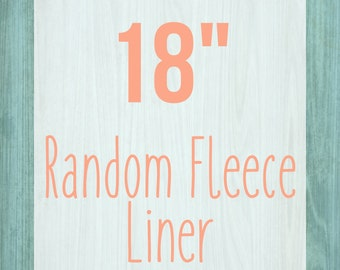 "Random Fleece Cage Liner - 18"" - Choose Your Size"