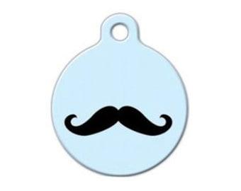Moustache- Pet ID Tag