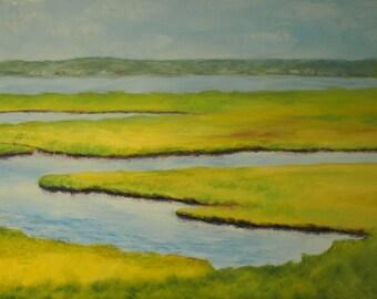 Summer Color, 36x24 Original Oil Painting