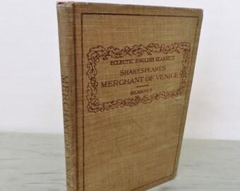 Antique Shakespeare - Merchant Of Venice - 1921 - Eclectic English Classics
