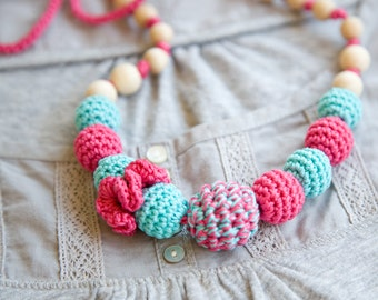SALE - Nursing necklace - teething necklace - sling accessory