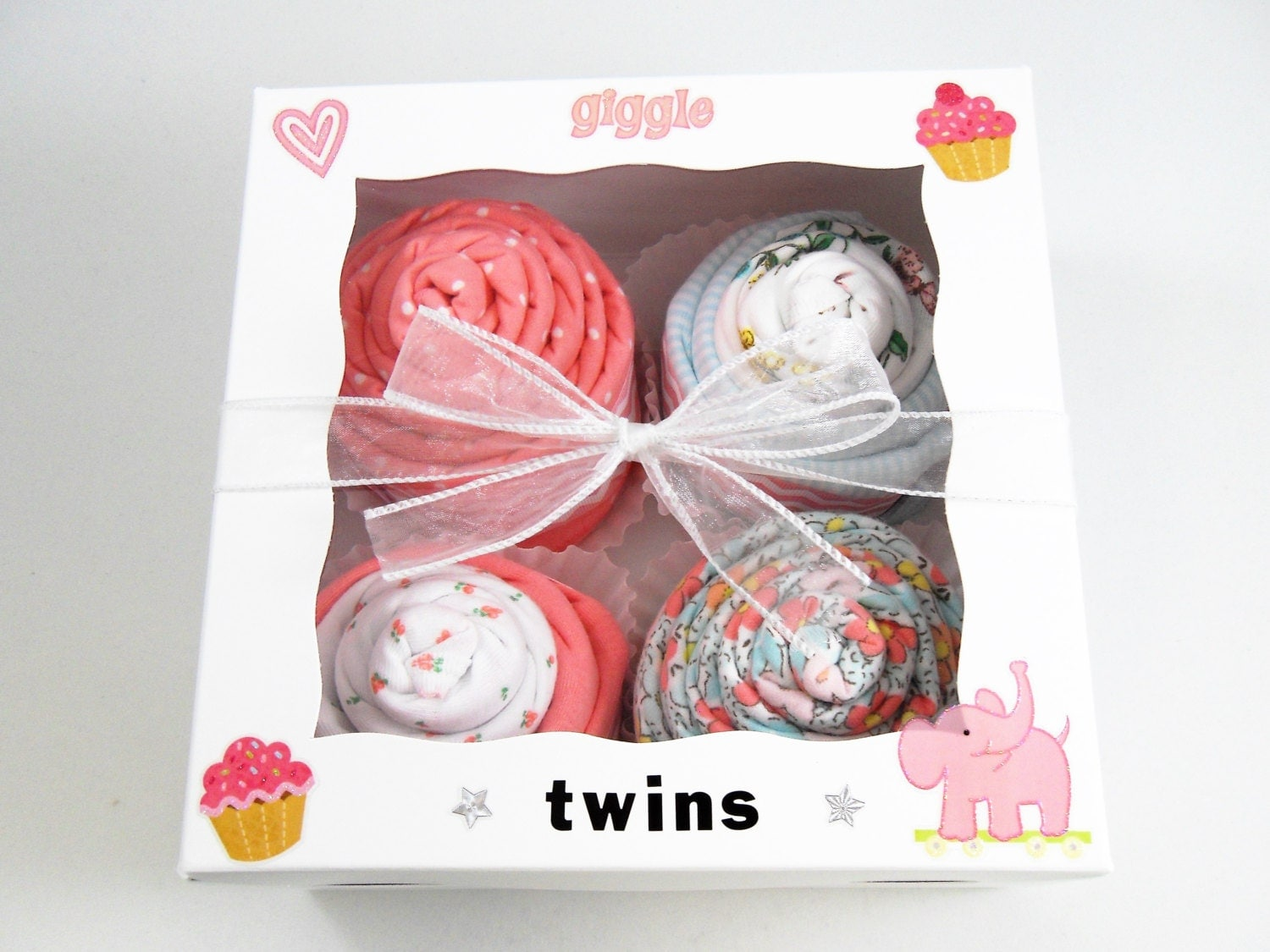 Baby Gift For Twins : Twin girl baby gift piece set for girls pink