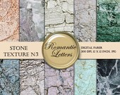 SALE Marble Stone Texture digital paper pack  Scrapbook  decoupage papers shabby chic photography background marbled  paper