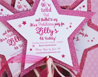 Princess Star Wand Invitations