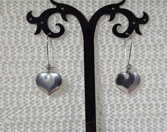 Stainless Steel Heart Earrings.....All Stainless Steel Earrings....Heart Earrings