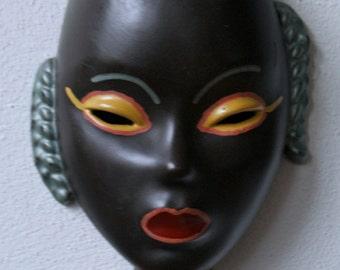 Goldscheider, African Woman wall mask 701