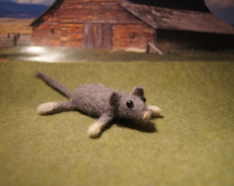 Hand Felted Little Mouse