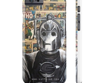 Phone Case of a Cyberman from Doctor Who