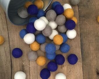 Hanukkah Felt Wool Balls