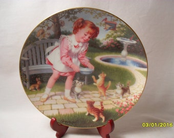Friday's Child by Elaine Gignilliat from Children of the Week Collection Collector Plate