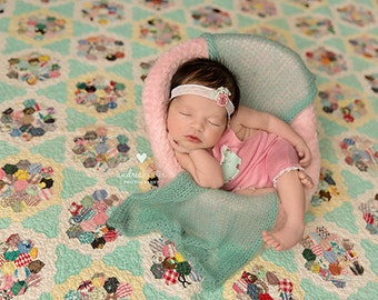 Knit Mohair Wrap Newborn Photography Prop  - Layer, Blanket, Swaddle, Wrap, Knot or just add color - choose from 14 colors